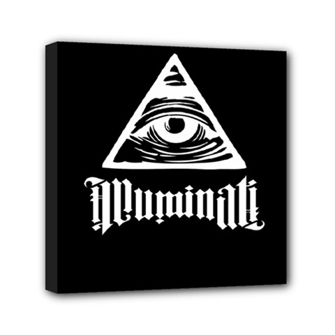 Illuminati Mini Canvas 6  X 6  by Valentinaart