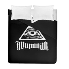 Illuminati Duvet Cover Double Side (full/ Double Size) by Valentinaart