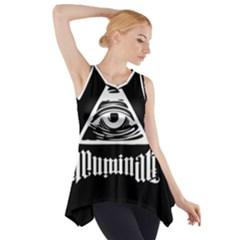 Illuminati Side Drop Tank Tunic by Valentinaart