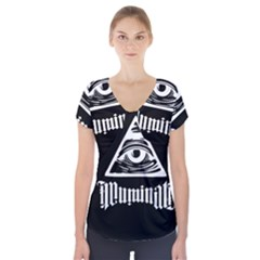 Illuminati Short Sleeve Front Detail Top by Valentinaart