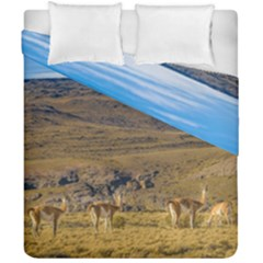 Group Of Vicunas At Patagonian Landscape, Argentina Duvet Cover Double Side (california King Size) by dflcprints