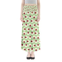 Ladybugs Pattern Maxi Skirts by linceazul