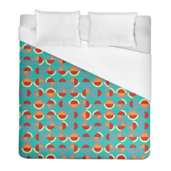 Semicircles And Arcs Pattern Duvet Cover (full/ Double Size) by linceazul