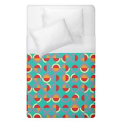 Semicircles And Arcs Pattern Duvet Cover (single Size) by linceazul