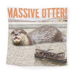 Massive Otter! Square Tapestry (large) by RakeClag