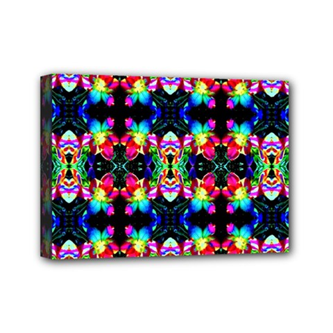 Colorful Bright Seamless Flower Pattern Mini Canvas 7  X 5  by Costasonlineshop