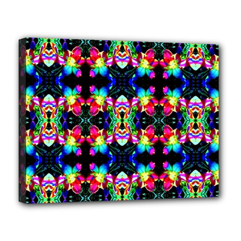 Colorful Bright Seamless Flower Pattern Canvas 14  X 11