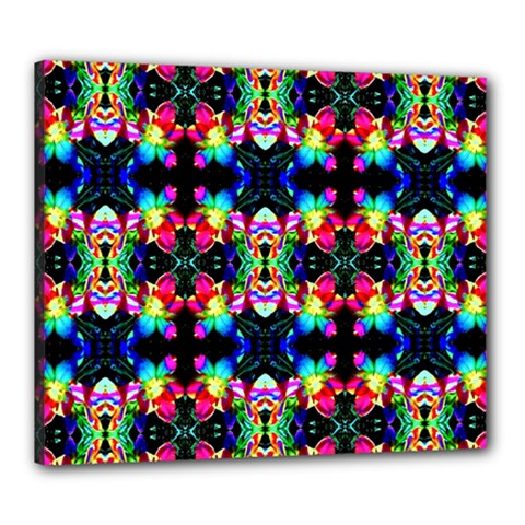 Colorful Bright Seamless Flower Pattern Canvas 24  X 20  by Costasonlineshop