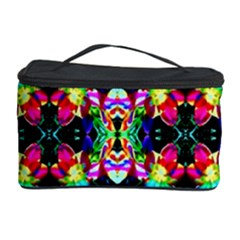 Colorful Bright Seamless Flower Pattern Cosmetic Storage Case