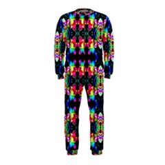 Colorful Bright Seamless Flower Pattern Onepiece Jumpsuit (kids) by Costasonlineshop