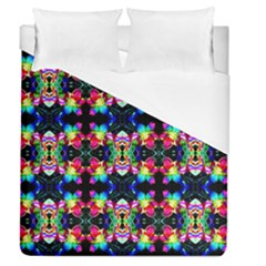 Colorful Bright Seamless Flower Pattern Duvet Cover (queen Size) by Costasonlineshop