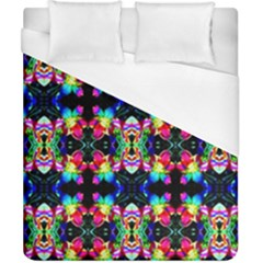 Colorful Bright Seamless Flower Pattern Duvet Cover (california King Size) by Costasonlineshop