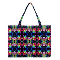 Colorful Bright Seamless Flower Pattern Medium Tote Bag