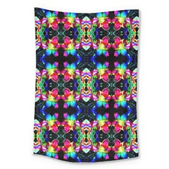Colorful Bright Seamless Flower Pattern Large Tapestry by Costasonlineshop