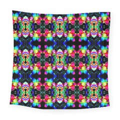 Colorful Bright Seamless Flower Pattern Square Tapestry (large)