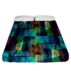 Abstract Square Wall Fitted Sheet (california King Size) by Costasonlineshop