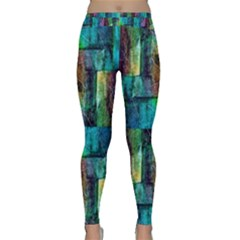 Abstract Square Wall Classic Yoga Leggings by Costasonlineshop