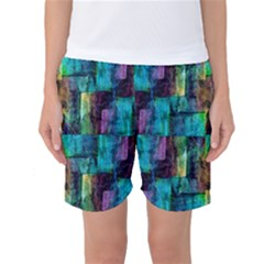Abstract Square Wall Women s Basketball Shorts by Costasonlineshop