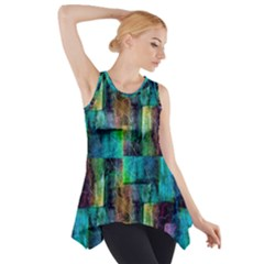 Abstract Square Wall Side Drop Tank Tunic