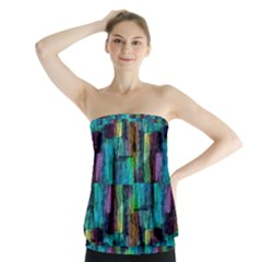 Abstract Square Wall Strapless Top by Costasonlineshop