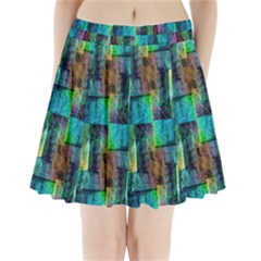 Abstract Square Wall Pleated Mini Skirt by Costasonlineshop