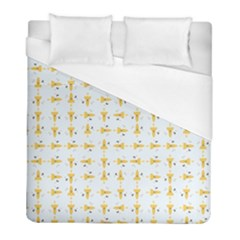 Spaceships Pattern Duvet Cover (full/ Double Size) by linceazul