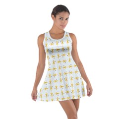 Spaceships Pattern Cotton Racerback Dress by linceazul