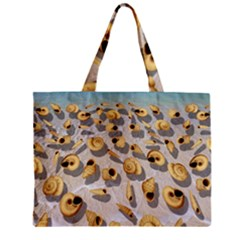Shell Pattern Zipper Mini Tote Bag by Valentinaart