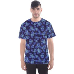 Autumn Leaves Motif Pattern Men s Sport Mesh Tee by dflcprintsclothing