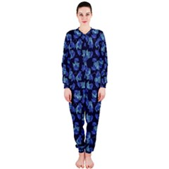 Autumn Leaves Motif Pattern Onepiece Jumpsuit (ladies)  by dflcprintsclothing