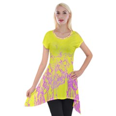 Colors Short Sleeve Side Drop Tunic by Valentinaart