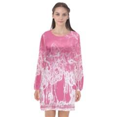 Colors Long Sleeve Chiffon Shift Dress  by Valentinaart