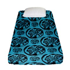 Turquoise Pattern Fitted Sheet (single Size) by linceazul