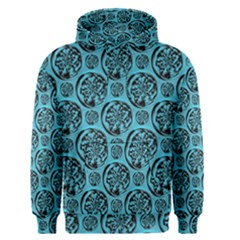 Turquoise Pattern Men s Pullover Hoodie by linceazul