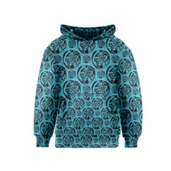 Turquoise Pattern Kids  Pullover Hoodie by linceazul
