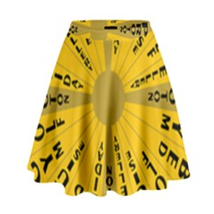 Wheel Of Fortune Australia Episode Bonus Game High Waist Skirt by Mariart