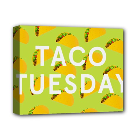 Bread Taco Tuesday Deluxe Canvas 14  X 11  by Mariart