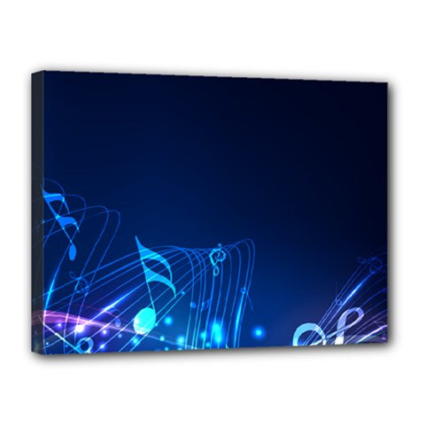 Abstract Musical Notes Purple Blue Canvas 16  X 12  by Mariart
