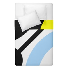 Circle Line Chevron Wave Black Blue Yellow Gray White Duvet Cover Double Side (single Size) by Mariart