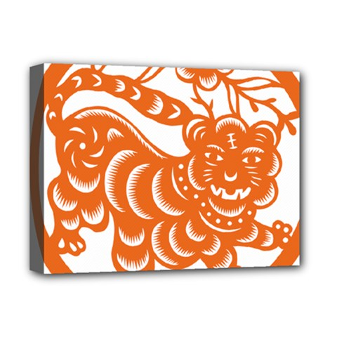 Chinese Zodiac Signs Tiger Star Orangehoroscope Deluxe Canvas 16  X 12   by Mariart