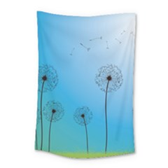 Flower Back Blue Green Sun Fly Small Tapestry by Mariart