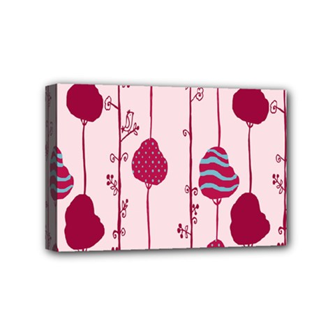 Flower Floral Mpink Frame Mini Canvas 6  X 4  by Mariart
