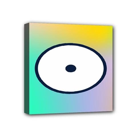 Illustrated Circle Round Polka Rainbow Mini Canvas 4  X 4  by Mariart