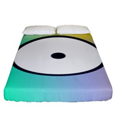 Illustrated Circle Round Polka Rainbow Fitted Sheet (queen Size) by Mariart