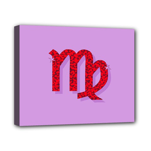 Illustrated Zodiac Purple Red Star Polka Canvas 10  X 8  by Mariart