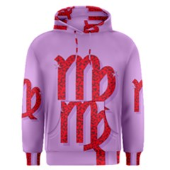 Illustrated Zodiac Purple Red Star Polka Men s Pullover Hoodie