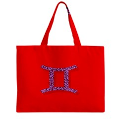 Illustrated Zodiac Red Purple Star Polka Dot Grey Zipper Mini Tote Bag by Mariart