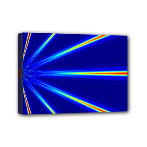 Light Neon Blue Mini Canvas 7  X 5  by Mariart