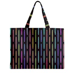 Pencil Stationery Rainbow Vertical Color Zipper Mini Tote Bag by Mariart