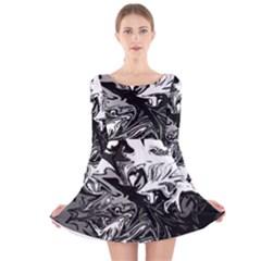 Colors Long Sleeve Velvet Skater Dress by Valentinaart